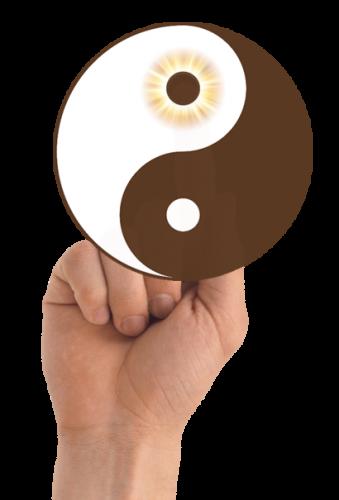 ying and yang hand